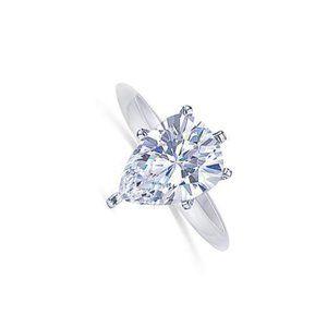 F Vs1 Pear Cut Diamond 1 Carat Solitaire Ring